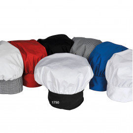 Chef Hat, Poplin, Poly/Cotton Multi-color 6/Pack