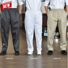 Baggy Chef Pants, With Drawstring, Poly/Cotton Multi-color 2/Pack