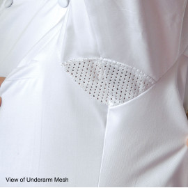 Chef Coat Poly-Cotton Brushed with Mesh Long sleeves Jacket White 2/Pack