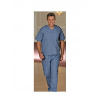 Solid Scrub Bottom w/ Cargo Pockets Poly-cotton Postman Blue color 2/Pack