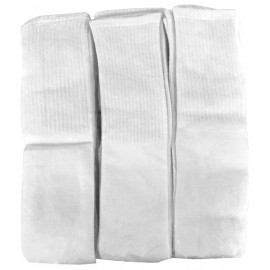 Hospitality Emporium Ultimate Over The Calf Tube Socks, White Unisex 12/Pack