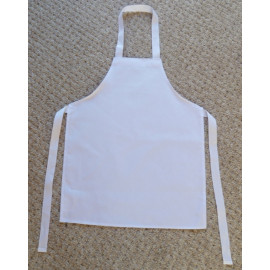 "Kids Apron 100% Spun Poly 16""W X 21""L white 6/Pack"