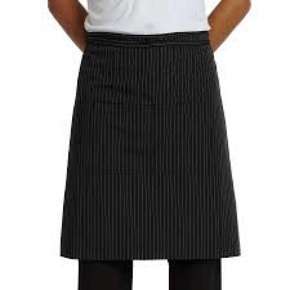 "Gold+Cross Bistro Apron Gangster Style w/ 2 Pockets 34"" L x 30"" W 6/Pack"
