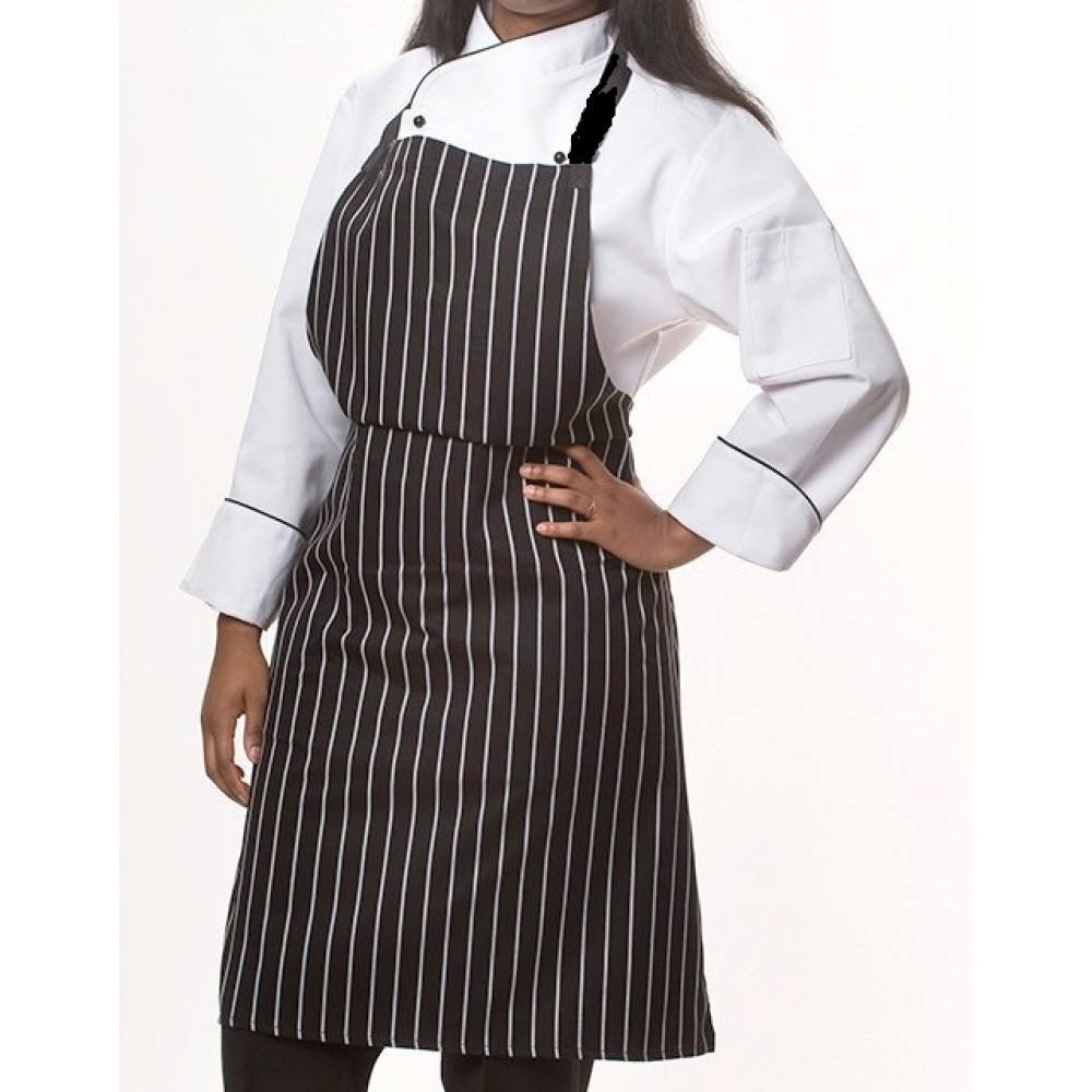 "Gold+Cross Bib Apron Gangster Style No pockets 33"" x 29"" W 6/Pack"