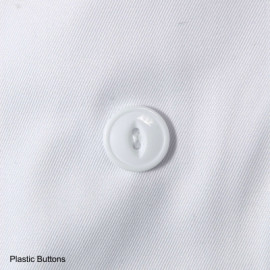 Econo Chef Coats 100% Spun Poly Traditional buttons Long Sleeve Jackets White 2/Pack